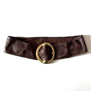 B-Low The Belt Brown Leather Hip Belt Size 32